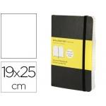 Libreta Moleskine tapa blanda liso 192 hojas color negro cierre con goma 190x250 mm