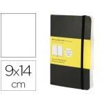 Libreta Moleskine tapa blanda liso 192 hojas color negro cierre con goma 90x140 cm