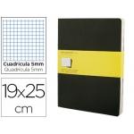Libreta Moleskine tapa dura cuadrícula de 5 mm 120 hojas con 16 hojas desmontables color negropack de 3 unidades 190x250 mm