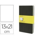 Libreta Moleskine tapa dura cuadrícula de 5 mm 80 hojas con 16 hojas desmontables color negropack de 3 unidades 130x210 mm