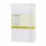 Libreta Moleskine tapa dura liso 192 hojas color blanco cierre con goma 90x140 mm
