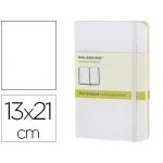 Libreta Moleskine tapa dura liso 240 hojas color blanco cierre con goma 130x210 mm