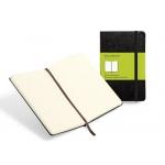 Libreta Moleskine tapa dura liso 240 hojas color negro cierre con goma 130x210 mm
