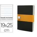 Libreta Moleskine tapa dura rayado horizontal 120 hojas 16hojas desmontables color negropack de 3 unidades 190x250 mm