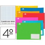 Libreta escolar Liderpapel 32h tamaño A5 apaisado cuadrícula de 4 mm con margen