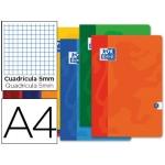 Libreta escolar Oxford 48 H tamaño A4 cuadrícula de 5 mm colores surtidos