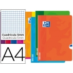 Libreta escolar Oxford openflex tapa flexible optik paper 48 hojas tamaño A4 cuadrícula de 5 mm colores surtidos