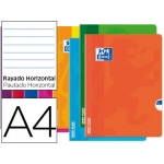 Libreta escolar Oxford openflex tapa flexible optik paper 48 hojas tamaño A4 rayado horizontal colores surtidos