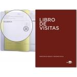 Libro Liderpapel tamaño A4 100 hojas registro de visitas de la inspección de trabajo