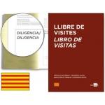 Libro Liderpapel tamaño A4 100 hojas registro de visitas de la inspección de trabajo catalan