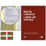 Libro Liderpapel tamaño A4 100 hojas registro de visitas de la inspección de trabajo euskera