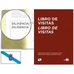 Libro Liderpapel tamaño A4 100 hojas registro de visitas de la inspección de trabajo gallego