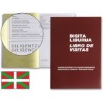 Libro Miquelrius Nº 98 tamaño folio 100 hojas-registro de visitas de la inspección de trabajo castellano-euskera
