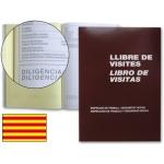 Libro Miquelrius Nº 98 tamaño folio 100 hojas registro de visitasde la inspección de trabajo castellano-catalan-valenciano