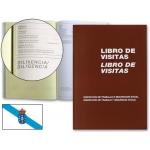 Libro Miquelrius Nº 98 tamaño folio 100 hojas registro de visitasde la inspección de trabajo castellano-gallego
