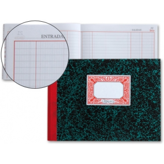 Miquelrius 3087 - Libro de caja, tamaño cuarto apaisado, 100 hojas