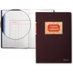 Libro Miquelrius tamaño folio 100 hojas cuentas corrientes debe haber y saldo