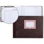 Libro cartóne tamaño cuarto 100 hojas caja de entrada y salida apaisad