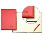 Libro de firmas Autograph tapa acolchada color rojo 305x210 mm