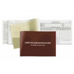 Libro subcontratacion Miquelrius tamaño folio natural juego de 10 hojas autocopiativas