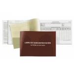 Libro subcontratacion euskera Miquelrius tamaño folio natural juego de 10 hojas autocopiativas