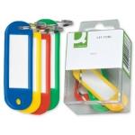 Llavero portaetiquetas Q-connect caja de 6 unidades colores surtidos