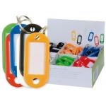 Llavero portaetiquetas Q-connect expositor de 100 unidades colores surtidos