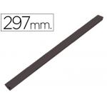 Lomera plástico tamaño A4 negra