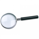 Lupa cristal aro metálico mango color negro 50 mm