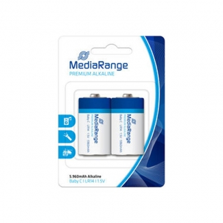 Pila alcalina MediaRange C (LR14) blister con 2 pilas