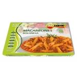 Macarrones boloñesa Abricome r acion individual calentar en microondas y listo 320g
