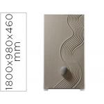 Mampara separadora easyscreen con marco aluminio y panel de tela decorado arena