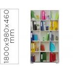 Mampara separadora easyscreen con marco aluminio y panel de tela decorado biblioteca