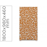 Mampara separadora easyscreen con marco aluminio y panel de tela decorado letras