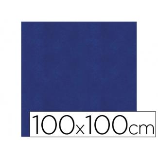 Mantel de papel color azul en hojas 100x100 cm caja de 100 unidades