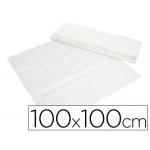 Mantel de papel color blanco en hojas 100x100 cm caja de 400