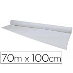 Mantel de papel color blanco rollo de 70m