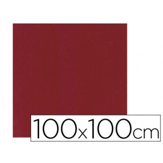 Mantel de papel color burdeos en hojas 100x100 cm caja de 100 unidades