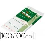 Mantel olimpic 100x100 cm color blanco una capa paquete de 10 unidades