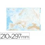 Mapa mudo b/n tamaño A4 europa fisico