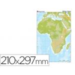 Mapa mudo color tamaño A4 africa fisico