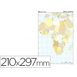 Mapa mudo color tamaño A4 africa político