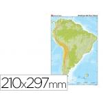 Mapa mudo color tamaño A4 america sur fisico