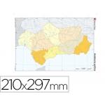 Mapa mudo color tamaño A4 andalucia político