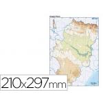 Mapa mudo color tamaño A4 aragon fisico