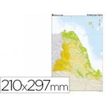 Mapa mudo color tamaño A4 cataluña fisico