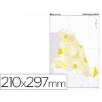 Mapa mudo color tamaño A4 cataluña político