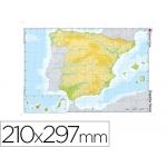 Mapa mudo color tamaño A4 españa fisico