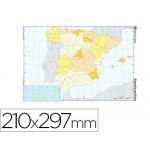 Mapa mudo color tamaño A4 españa político