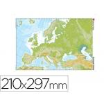 Mapa mudo color tamaño A4 europa fisico